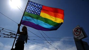 A pride flag in San Francisco