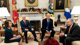 Trump meets the Democrats