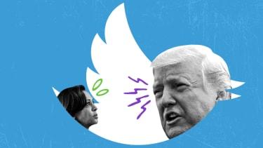 President Trump and Kamala Harris.