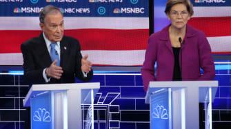Mayor Michael Bloomberg and Sen. Elizabeth Warren.