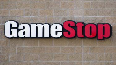 The GameStop logo