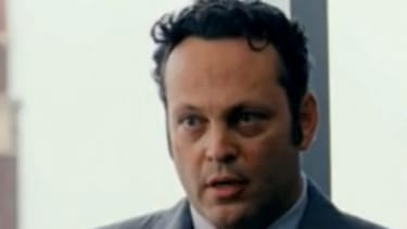 """Vince Vaughn's character attempts to insult """"an electric car"""" by calling it """"gay."""" The clip has since been cut from the trailer."""