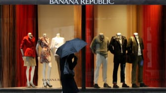 The Banana Republic flagship store in London.