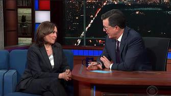 Kamala Harris on The Late Show