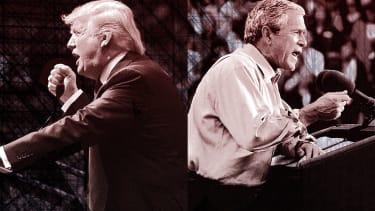 President Trump and George W. Bush.