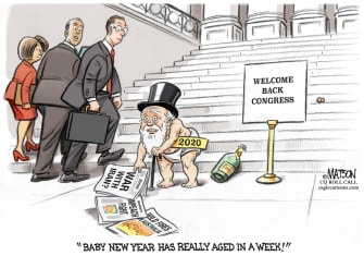 Editorial Cartoon U.S. Congress 2020