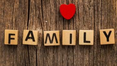 """Tiles that spell """"family."""""""