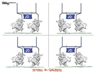 Political Cartoon U.S. GOP Biden election