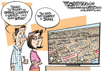 Political Cartoon U.S. Trump Iran Country United Soleimani