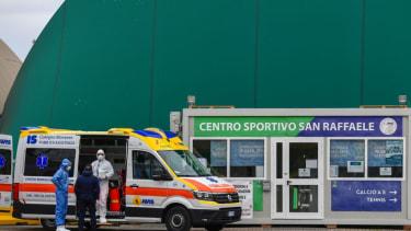Coronavirus hospitalizations in Italy.