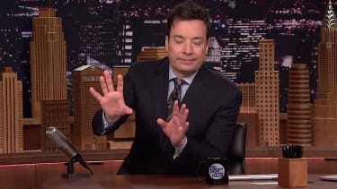 Jimmy Fallon had quite a party on Sunday night