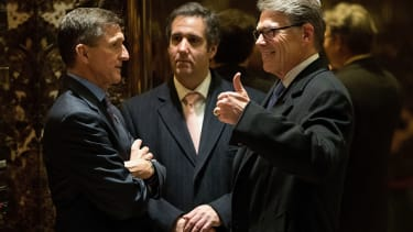 Michael Flynn, Michael Cohen, and Rick Perry.