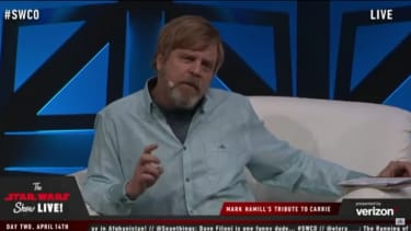 Mark Hamill gives a tribute to Carrie Fisher