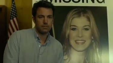 The first trailer for Gone Girl features Ben Affleck, eerie cover song