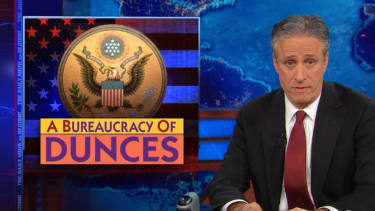 The Daily Show lividly audits the 'bureaucracy of dunces' behind recent federal screw-ups
