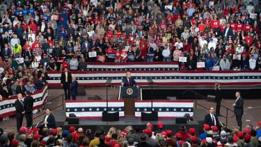 Trump's Jan. 30 rally in Iowa.