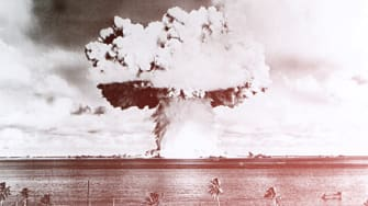 The use of nuclear bombs is widely disputed.