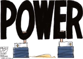 Political Cartoon U.S. Trump loss power
