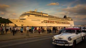 Cruise ship in Cuba.