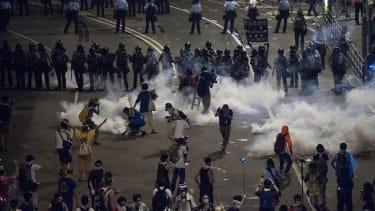 Hong Kong protesters defy police, expand pro-democracy protest