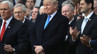 Trump, Republicans celebrate tax bill
