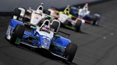 Takuma Sato's car during the Indy 500.