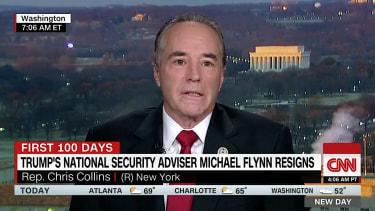 Rep. Chris Collins on GOP silence over Michael Flynn's resignation