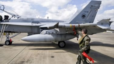 Task Force Odessey Dawn aircrafts refuel in Italy Tuesday