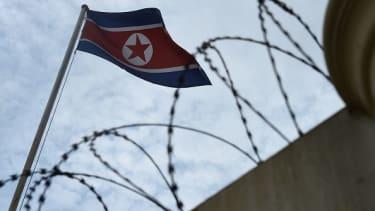 The North Korean flag.