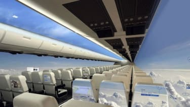 The future of air travel may be windowless — but with even better views