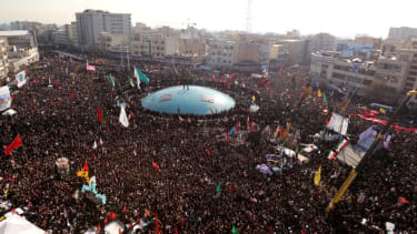 Mourners gather in Iran