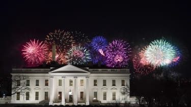 Fireworks over the White House.