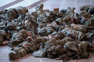 National Guard members at the Capitol.