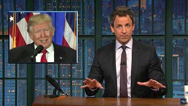 Seth Meyers recaps Donald Trump press conference