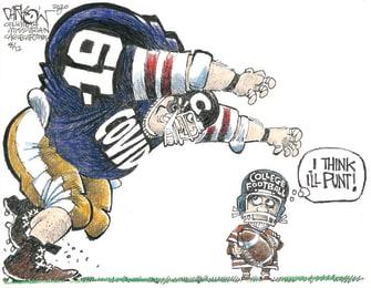 Editorial Cartoon U.S. Big Ten College Football NCAA Canceled Coronavirus