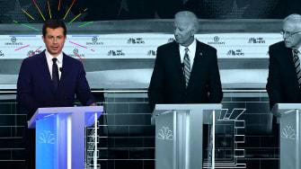 Pete Buttigieg at the 2020 Debate.