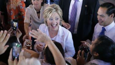 Hillary's feeling rich.