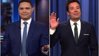Late night hosts on Kamala Harris dropping out