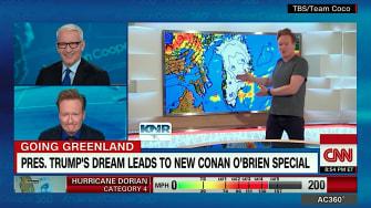 Anderson Cooper and Conan O'Brien talk about Greenland