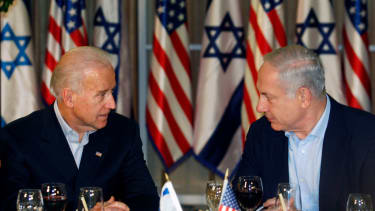 Joe Biden and Benjamin Netanyahu.