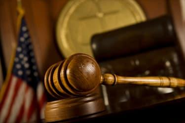 Courtroom gavel.