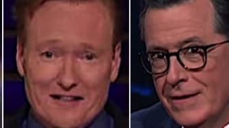 Late night hosts joke about Mitt Romney