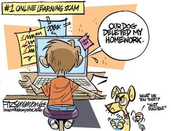 Editorial Cartoon U.S. online learning