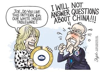 Political Cartoon U.S. Biden China