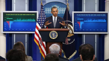 Obama hold conference to discuss minimum wage, among other things.