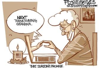 Editorial Cartoon U.S. Thanksgiving COVID