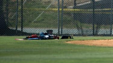 Scene of shooting at baseball field.