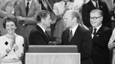 The GOP came close to a brokered convention in 1976, when Ronald Reagan just barely lost to incumbent President Gerald Ford.