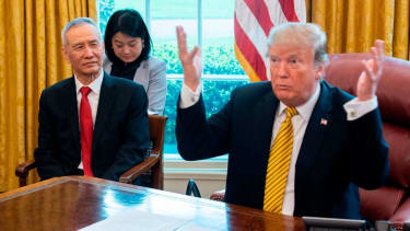Trump and China's Liu He in the Oval Office