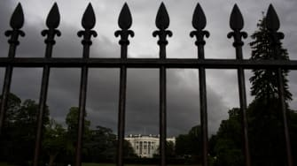 Clouds over the White House